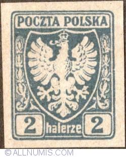 Image #1 of 2 Halerze 1919 - Eagle - Coat of arms - plain border