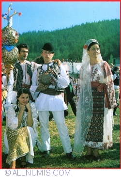 "Image #1 of Zakopane - International festival of mountain lands. Romanian folk group ""Braduletul"" from Horez (1979)"