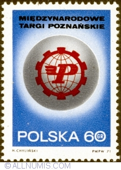 Image #1 of 60 Groszy 1971 -  40th International Poznan Fair Emblem