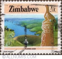 Imaginea #1 a 20 Cents 1985 - Kariba Dam