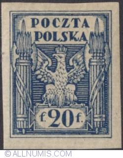 Image #1 of 20 Fenigow 1919 - Eagle - Coat of arms - plane border