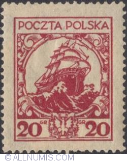 Image #1 of 20 Groszy 1926 - Ship of State