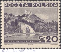 Image #1 of 20 Groszy 1935 - View of Pieniny (Czorsztyn Castle)