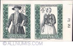 Image #1 of 20 groszy; 20 groszy  - Man and woman from Rzeszów (imperf.)