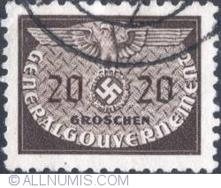 Image #1 of 20 groszy1940 - Reich emblem and GG