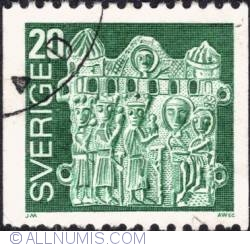 20 Öre 1976 - Pilgrim's Badge,Adoration of the Magi