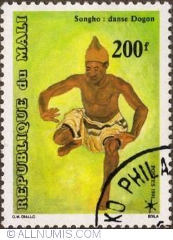 Image #1 of 200 Francs 1991 - Dancing man (Songho)