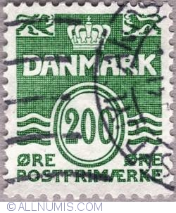Image #1 of 200 øre 1983 - Wavy lines and numeral of value