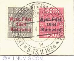 Imaginea #1 a 20;30 Groszy 1934 Polish Eagle overprinted