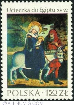 Imaginea #1 a 1,50 Złoty 1974 - Fuga în Egipt