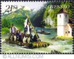 21 koruna 2004 -  Dunajec River Raftsmen