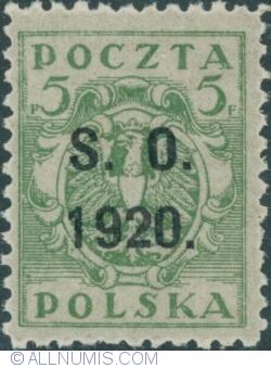 Image #1 of 5 Fenigi - eagle owerprint S.O. 1920 (Plebiscite on Cieszyn Silesia)
