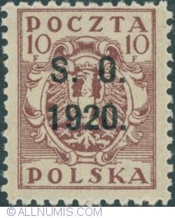 Image #1 of 10 Fenigi - eagle owerprint S.O. 1920 (Plebiscite on Cieszyn Silesia)