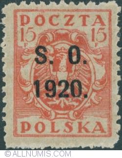 Image #1 of 155 Fenigi - eagle owerprint S.O. 1920 (Plebiscite on Cieszyn Silesia)