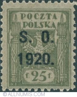 Image #1 of 25 Fenigi - eagle owerprint S.O. 1920 (Plebiscite on Cieszyn Silesia)