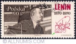 Image #2 of 60 Groszy 1970 - Lenin addressing 3rd International Congress in Leningrad