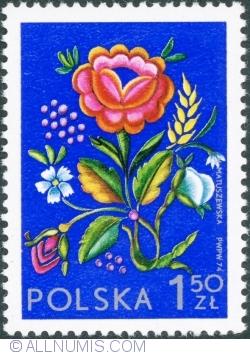 Imaginea #1 a 1,50 Złoty 1974 - Broderie din Łowicz