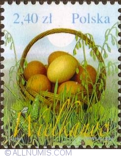 Image #1 of 2,40 Zloty 2010 - Basket with easter eggs