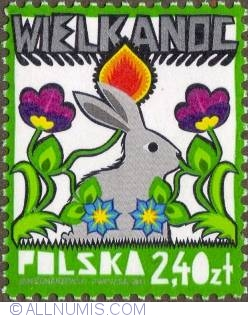 Image #1 of 2,40 Zloty 2011 - Bunny in flowers