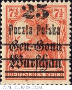 Image #1 of 25 Fenigow on 7½ Pfennig 1918 - Germania