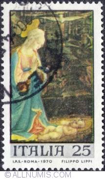 Image #1 of 25 Lira 1970 - Virgin and Child