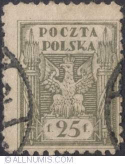 Image #1 of 25 Polish Fenigow 1920 - Eagle - Coat of arms - perforated