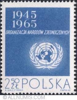 Image #1 of 2,50 złotego 1965 - UN Emblem