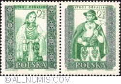 2,50 złotego; 2,50 złotego - Man and woman from Mountain (Górale)