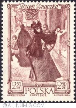Image #1 of 2,50 złotego- Woman mailing letter Warsaw  (Aleksander Kamiński)
