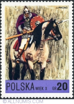 Image #1 of 20 Groszy - Piast knight Xth century 1972