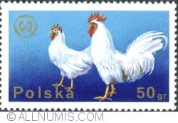 50 Groszy 1975 - Cocoș cu găină