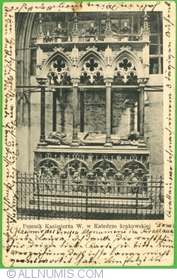 Image #1 of Kraków - Monument of Casimir Great  in Krakow Cathedral (1904)