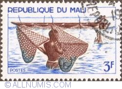 Image #1 of 3 Francs 1966 - Fishermen with nets