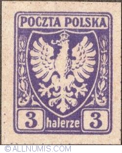 Image #1 of 3 Halerze 1919 - Eagle - Coat of arms - plain border