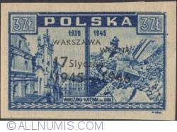 3 Zlote 1946 - Cathedral of St. John Overprinted in Black
