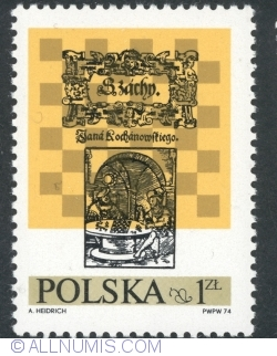 Image #1 of 1,50 Złoty 1974 - Chess, by Jan Kochanowski