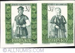Image #1 of 3,10 złotego; 3,10 złotego - Man and woman from Kujawy (imperf.)