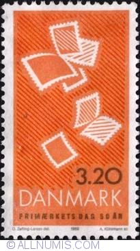 Image #1 of 3,20 Kroner 1989 - Stamp Day