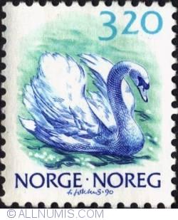 Imaginea #1 a 3,20 Kroner 1990 - Mute swan