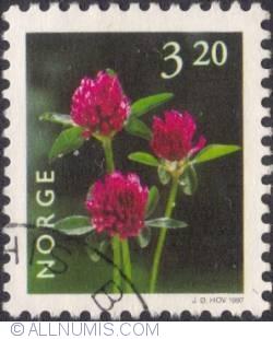 3,20 kroner 1997 - Red clover
