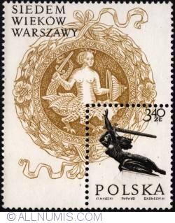 Image #1 of 3,40 złotego 1965 - The Warsaw Nike monument.