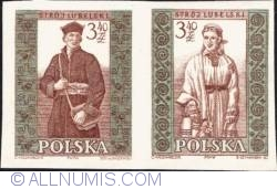 Image #1 of 3,40 złotego; 3,40 złotego - Man and woman from Lublin (imperf.)