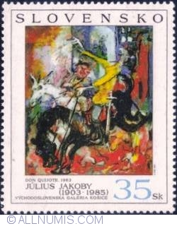 Image #1 of 35 koruna 2004 - Dun Quijote, by Július Jakoby