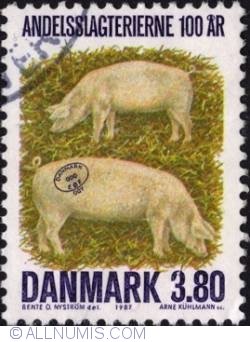 Image #1 of 3,80 Kroner 1987 - Pigs