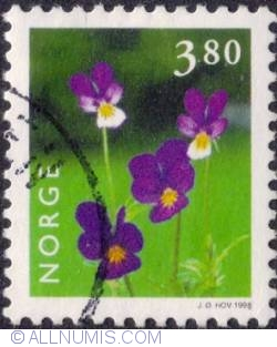 Image #1 of 3,80 kroner 1998 - Wild pansy