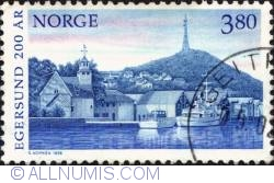Imaginea #1 a 3,80Kroner 1998 - Egersund, herring boats
