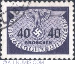 Image #1 of 40 grosze1940 - Reich emblem and GG