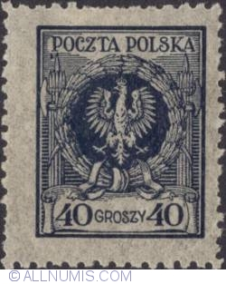 Imaginea #1 a 40 Groszy 1924 - Eagle in wreath