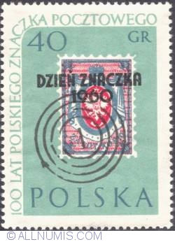 "Image #1 of 40 groszy- Stamp of 1860 (Overprinted: ""Dzień Znaczka 1960"")"