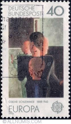 40 Pfennig - Concentric Group, by Oskar Schlemmer 1975